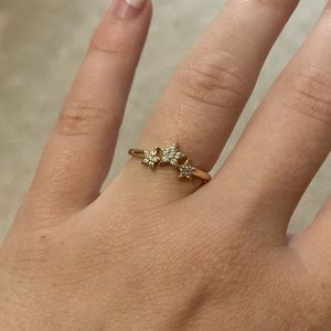 Anthropologie Gold Star Ring